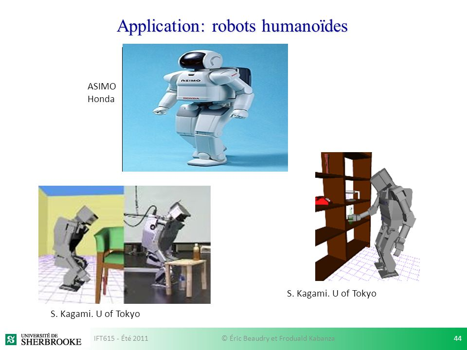 Application: robots humanoïdes