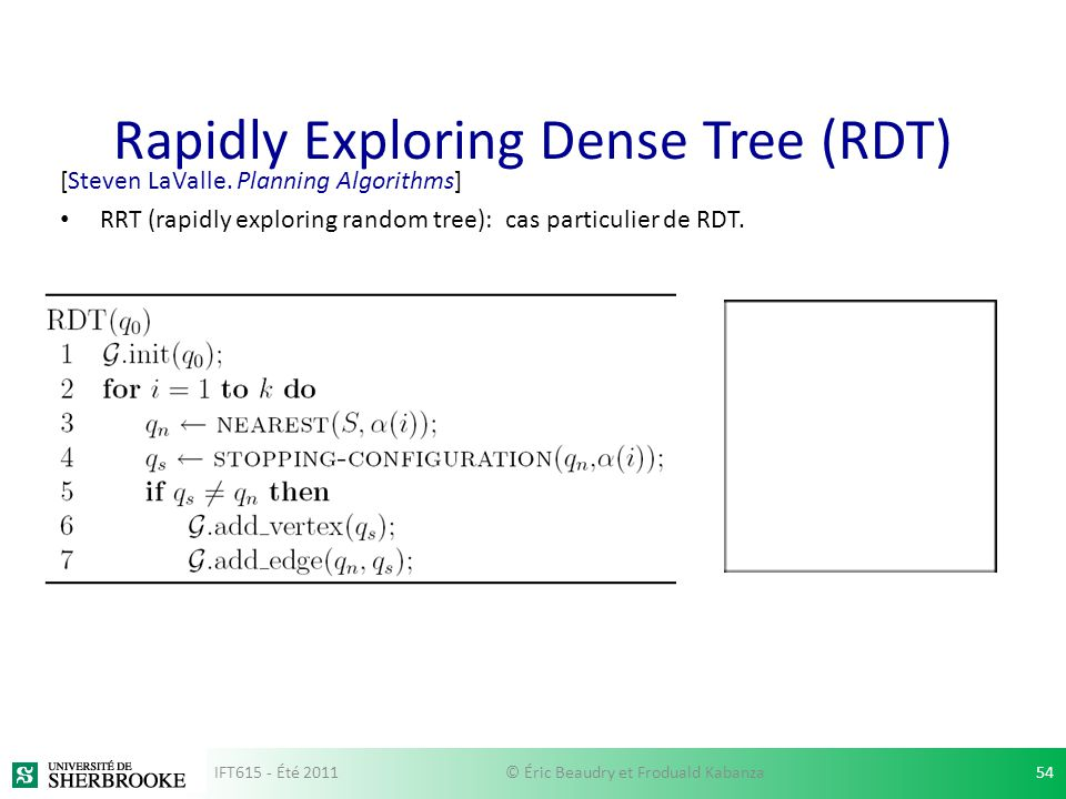 Rapidly Exploring Dense Tree (RDT)