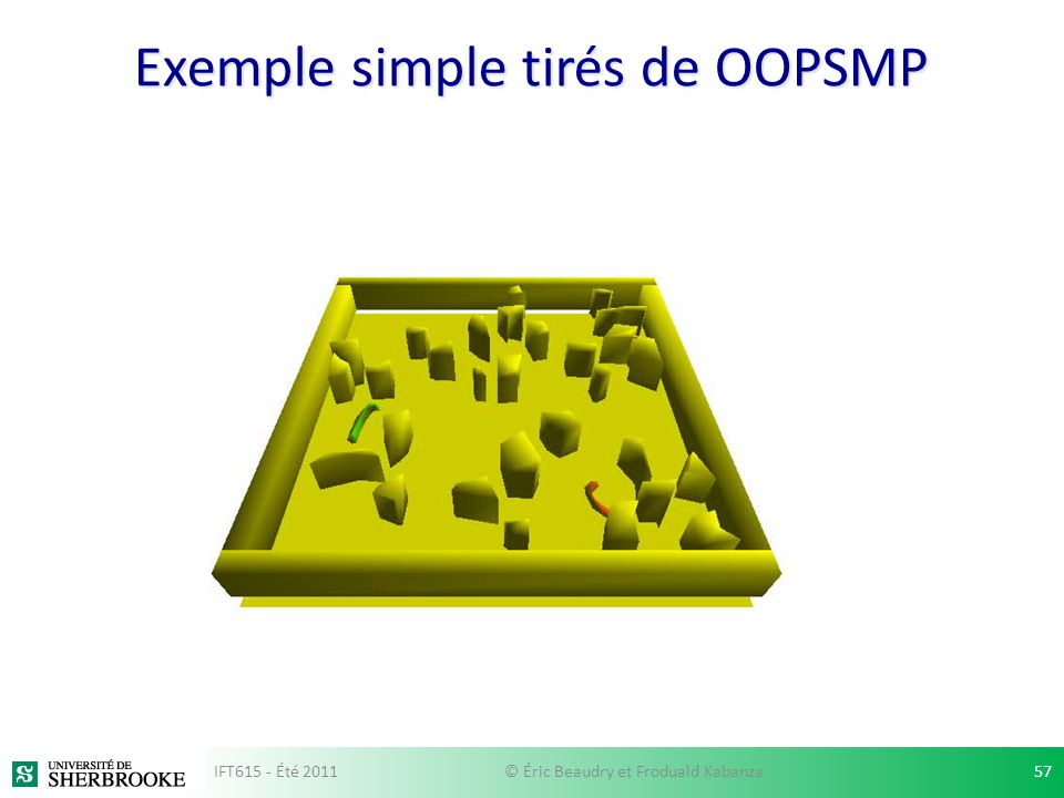 Exemple simple tirés de OOPSMP