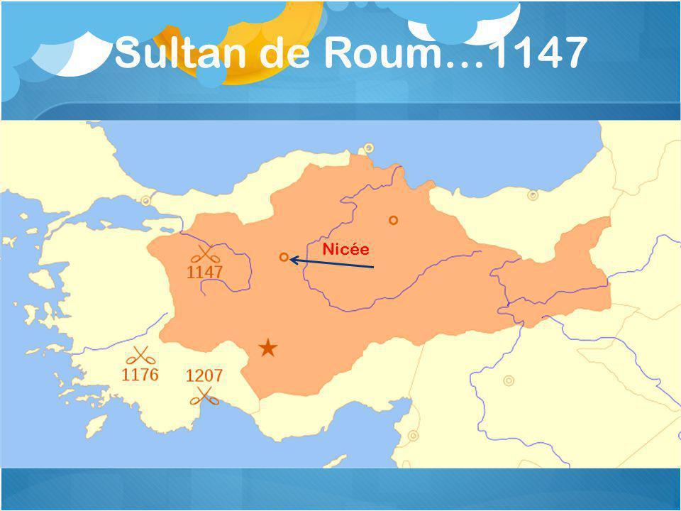 Sultan de Roum…1147 Nicée