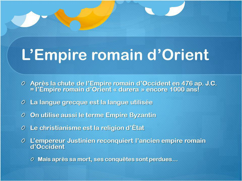 L'Empire romain d'Orient