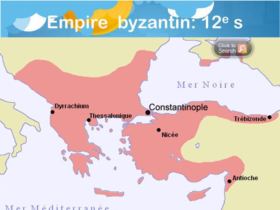 Empire byzantin: 12e s