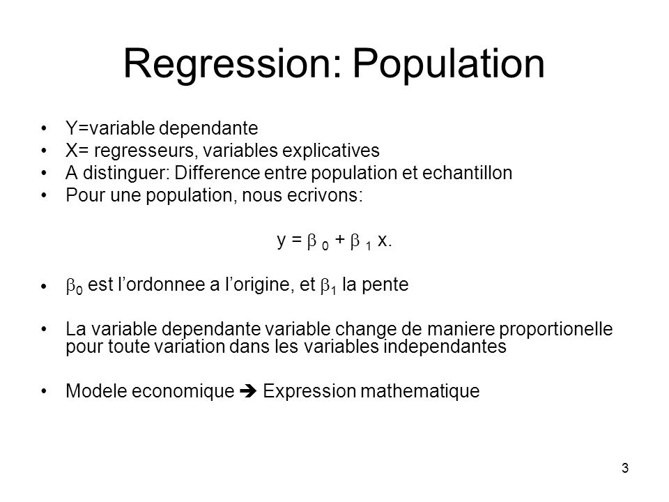 Regression: Population