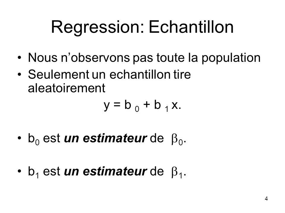 Regression: Echantillon