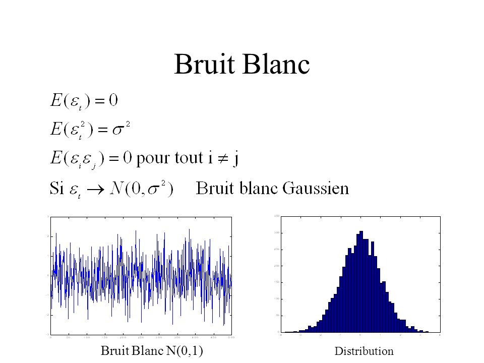 Bruit Blanc Bruit Blanc N(0,1) Distribution