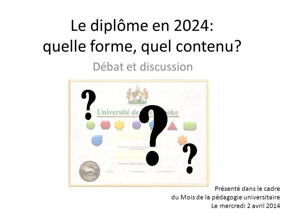 Le diplôme en 2024: quelle forme, quel contenu