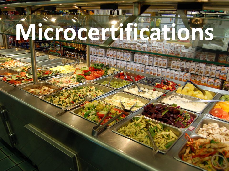 Microcertifications Abbréviation: MC. Le buffet chinois.