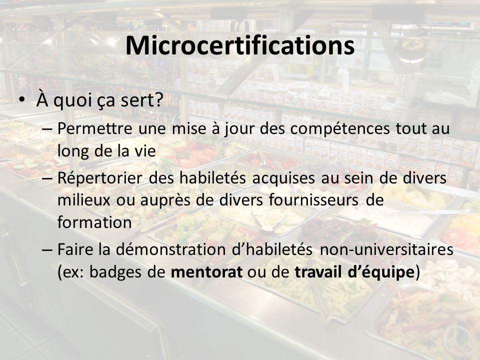 Microcertifications À quoi ça sert