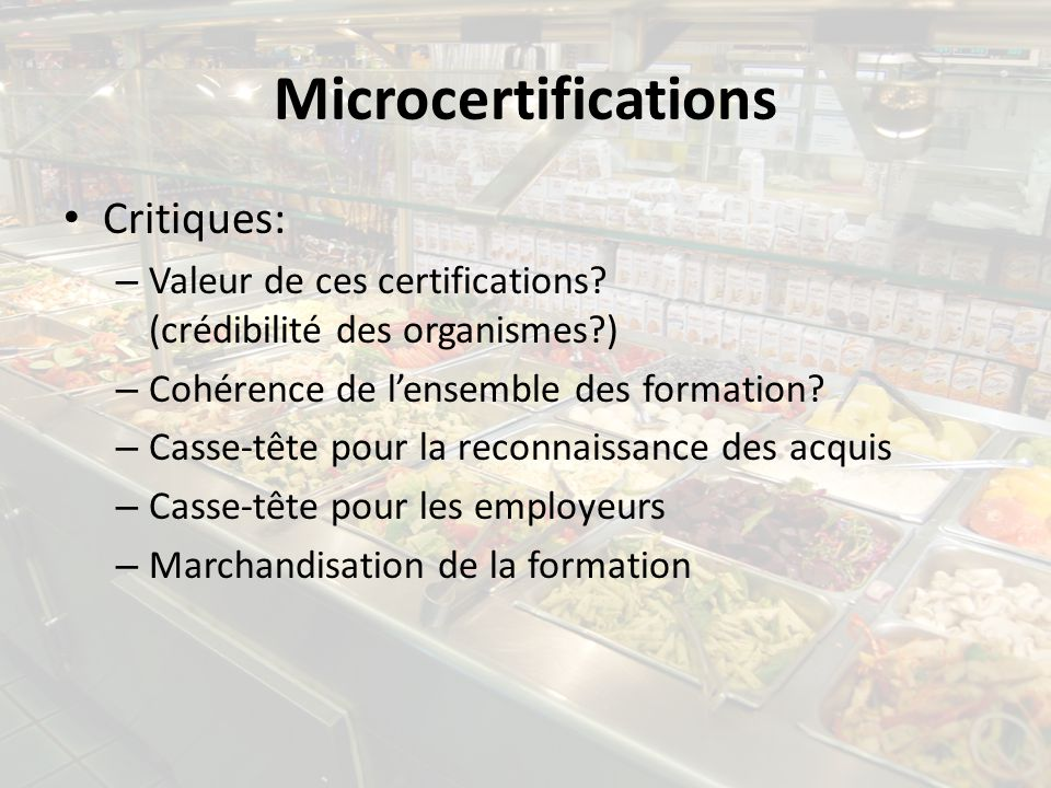 Microcertifications Critiques: