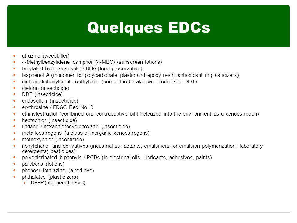 Quelques EDCs atrazine (weedkiller)