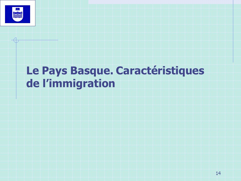 Le Pays Basque. Caractéristiques de l'immigration