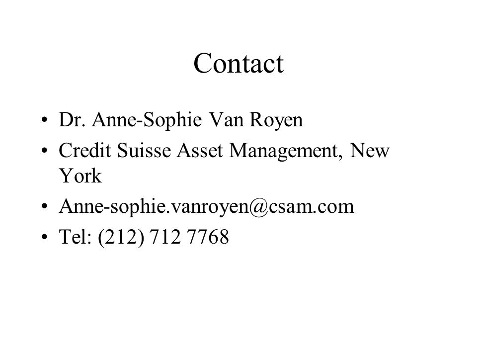 Contact Dr. Anne-Sophie Van Royen