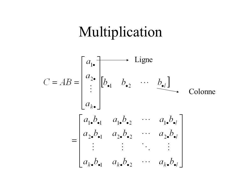 Multiplication Ligne Colonne