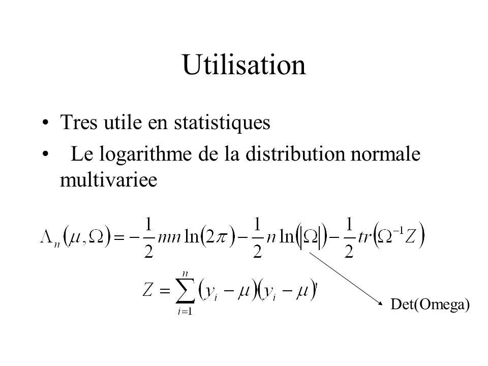 Utilisation Tres utile en statistiques