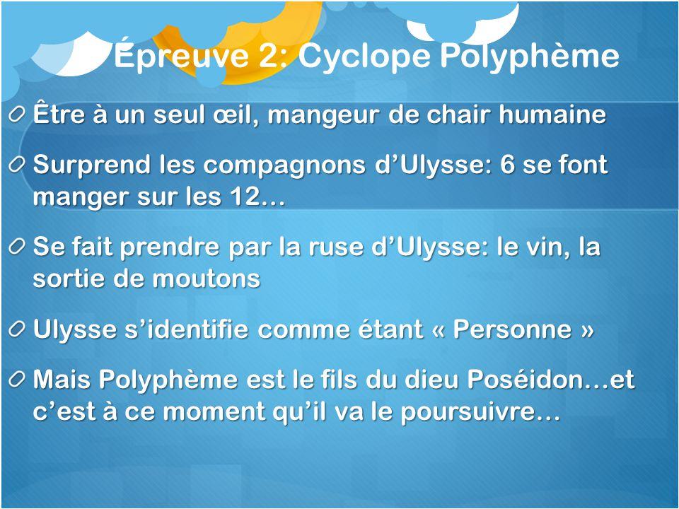 Épreuve 2: Cyclope Polyphème