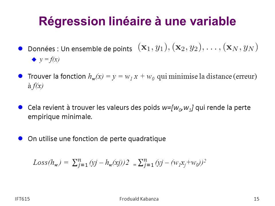 Régression linéaire à une variable