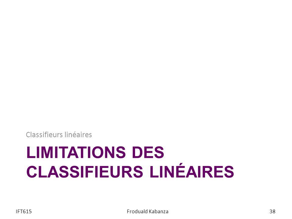 Limitations des classifieurs linéaires