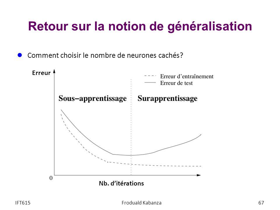 Retour sur la notion de généralisation