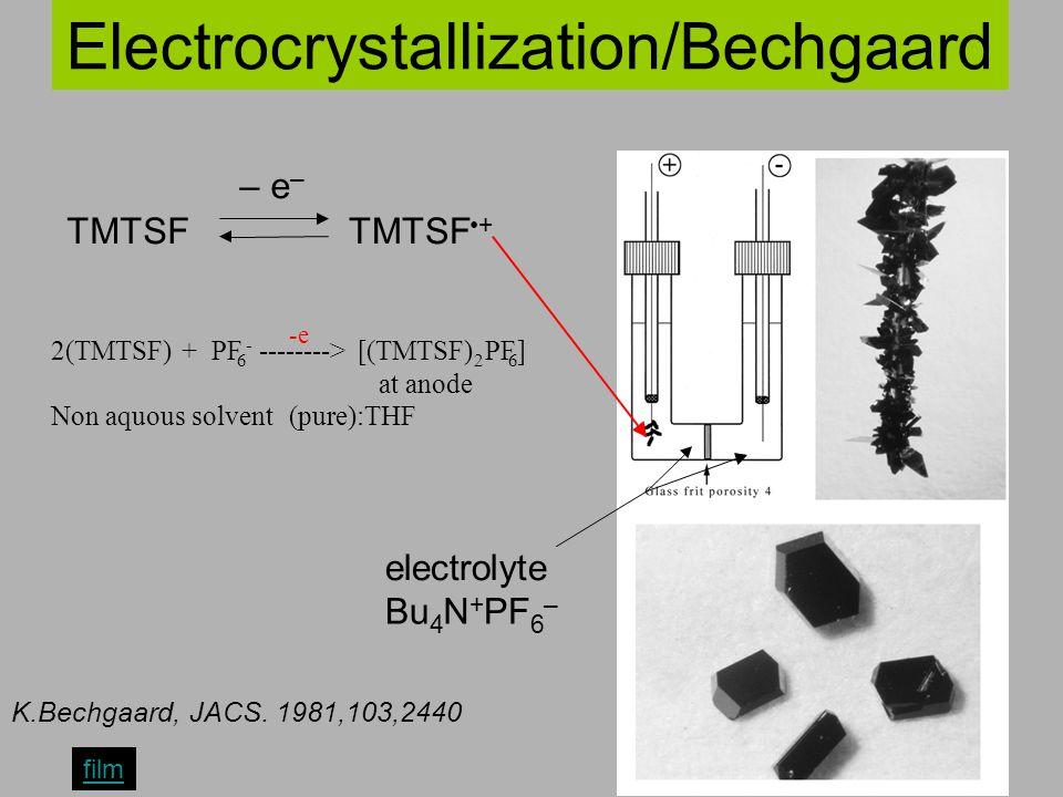 Electrocrystallization/Bechgaard