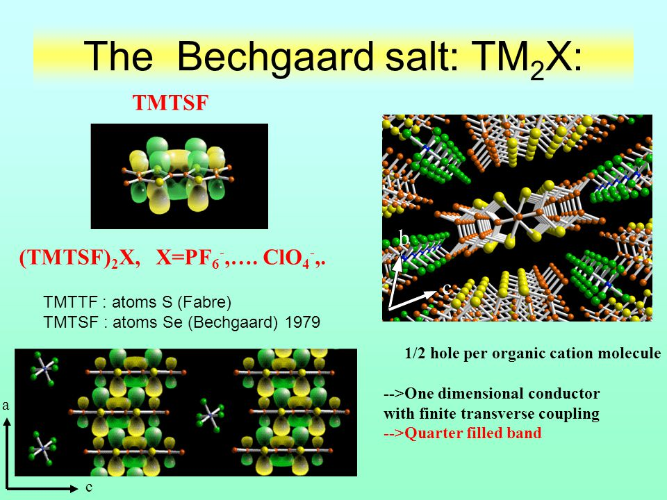 The Bechgaard salt: TM2X: