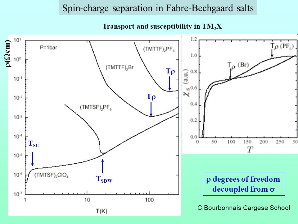 Spin-charge separation in Fabre-Bechgaard salts