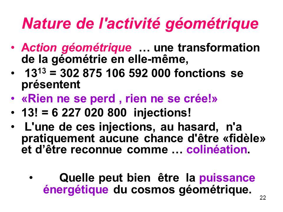 Nature de l activité géométrique
