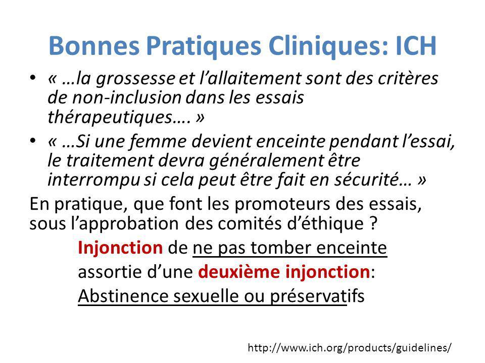 Bonnes Pratiques Cliniques: ICH