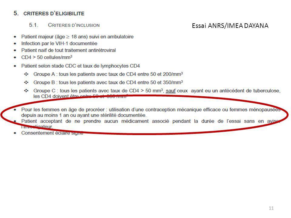 Essai ANRS/IMEA DAYANA
