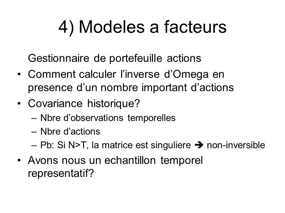 4) Modeles a facteurs Gestionnaire de portefeuille actions
