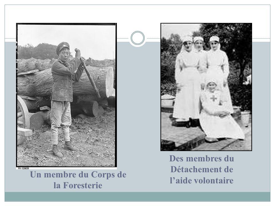Des membres du Détachement de l'aide volontaire