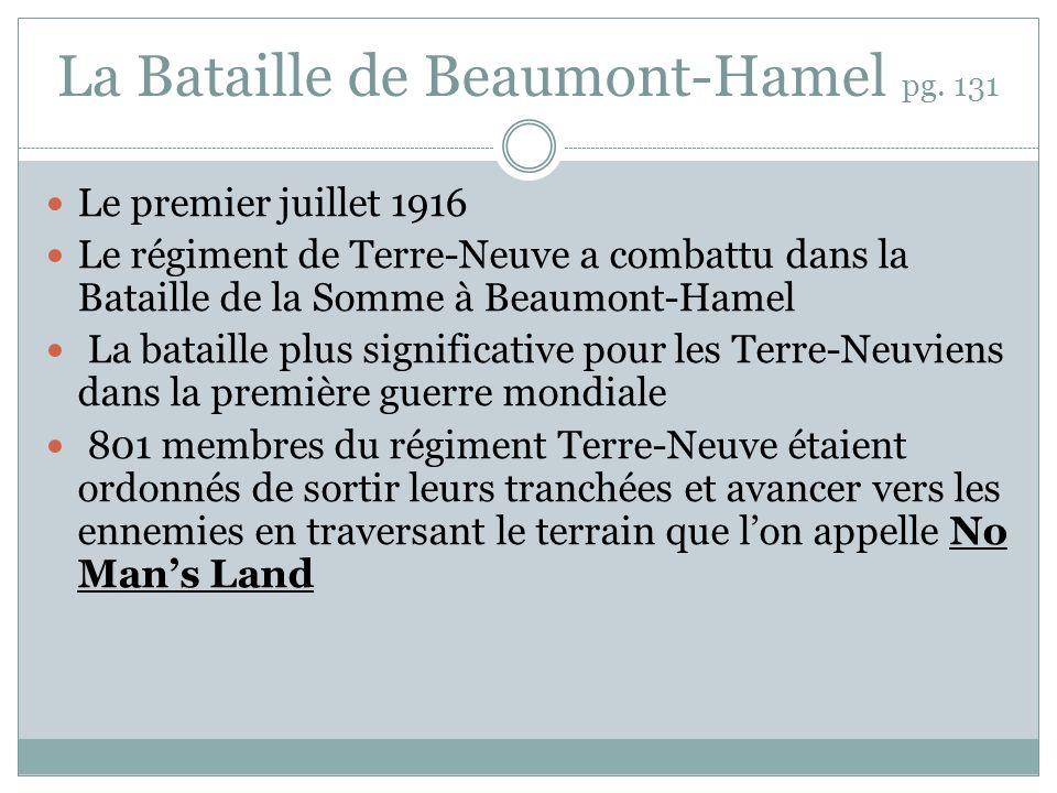 La Bataille de Beaumont-Hamel pg. 131