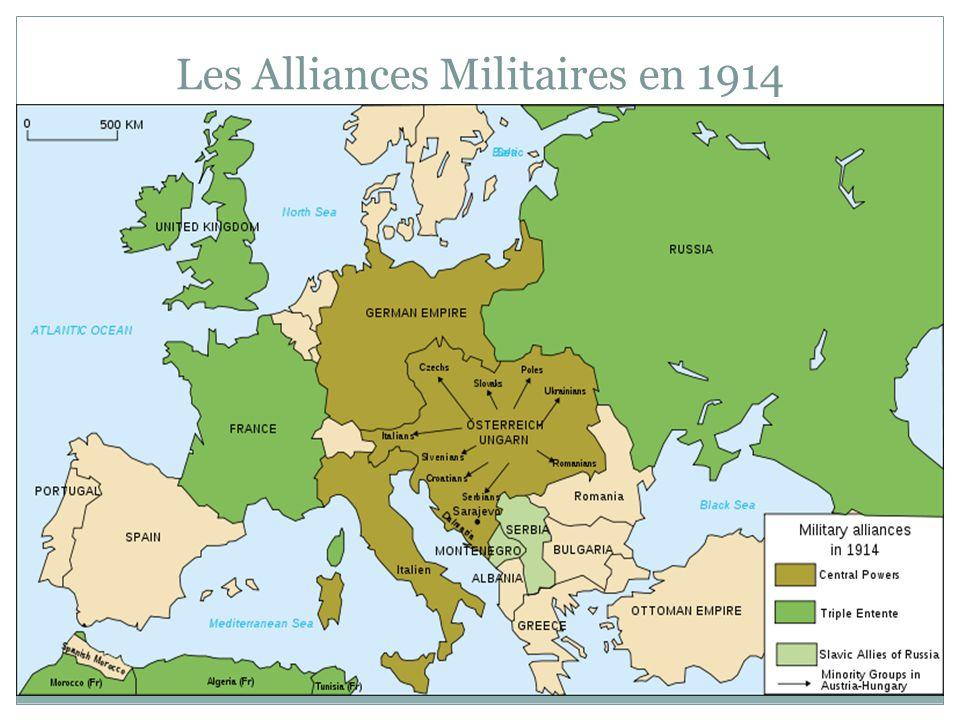 Les Alliances Militaires en 1914