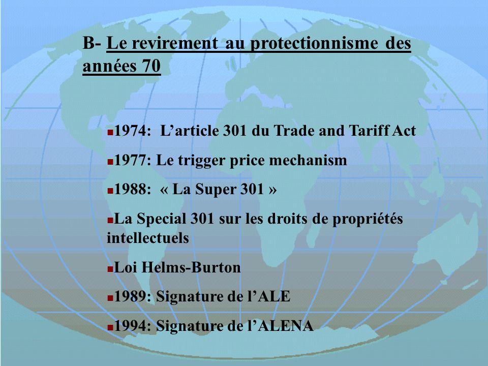 Fin du système de taux de change fixe sous le régime de Bretton-Woods.