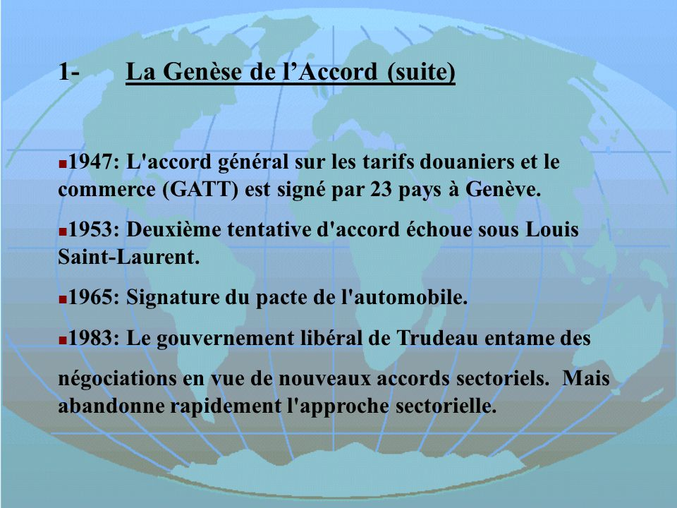 1- La Genèse de l'Accord (suite)