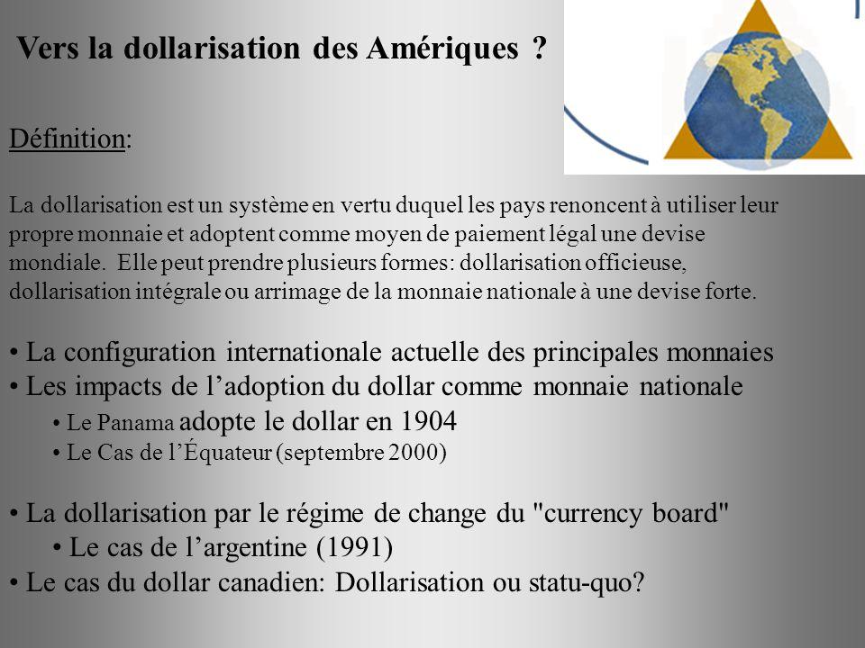 Vers la dollarisation des Amériques