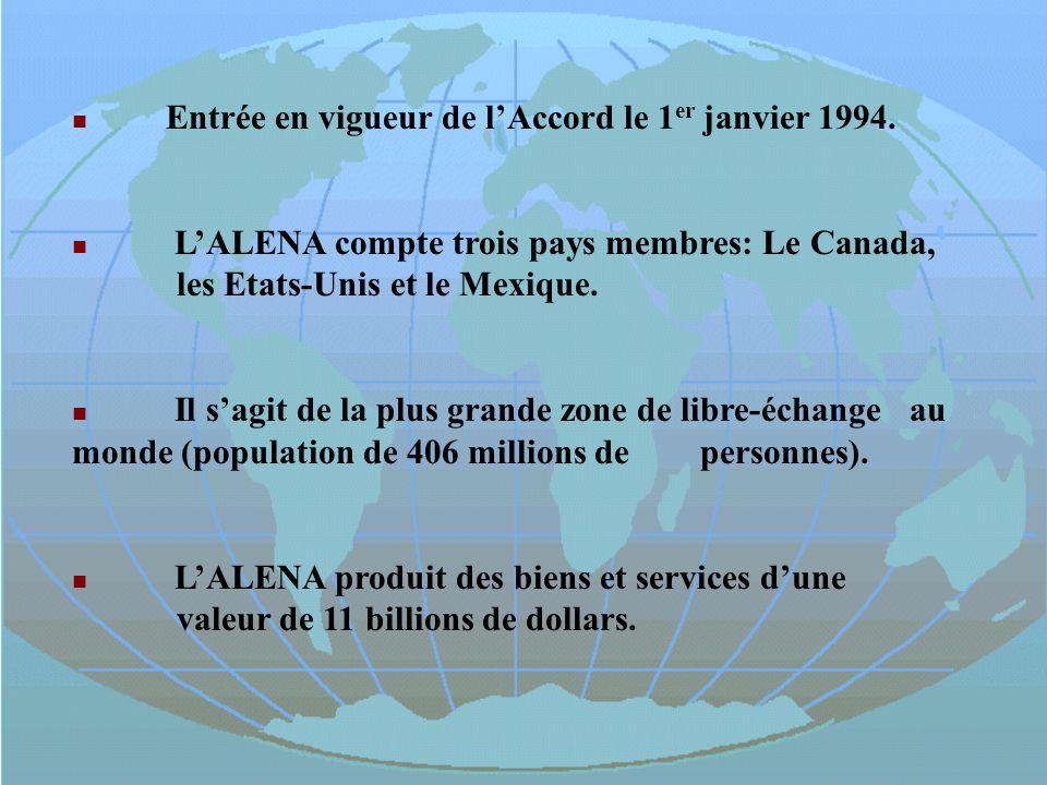 Entrée en vigueur de l'Accord le 1er janvier 1994.
