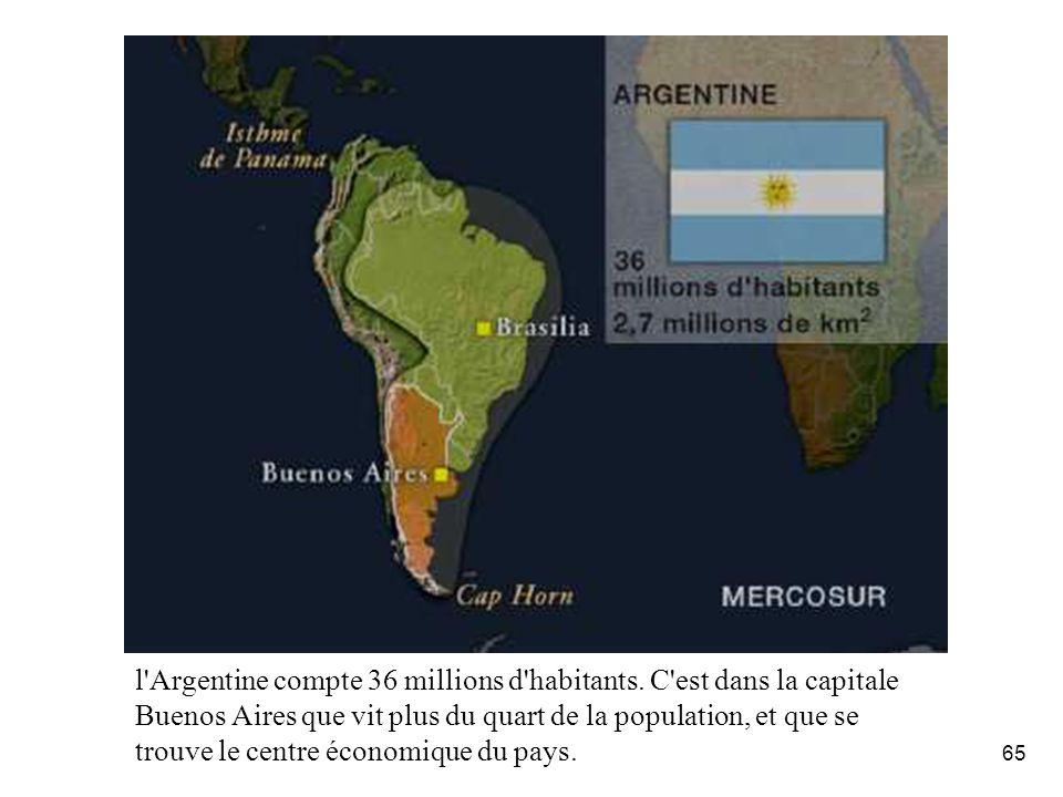 L'Argentine: La géographie.