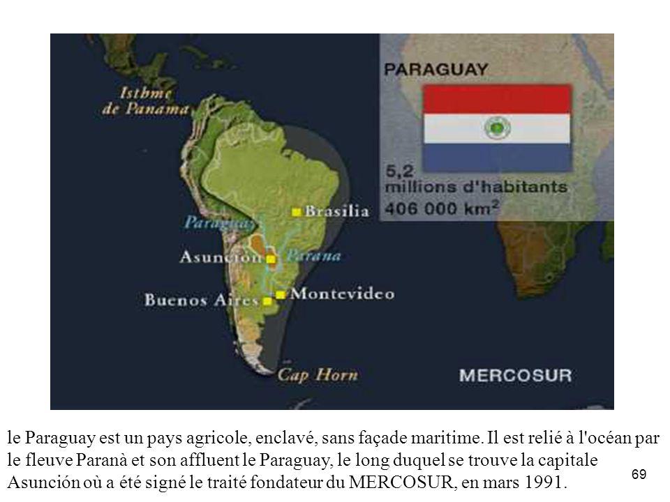 Le Paraguay: La géographie.