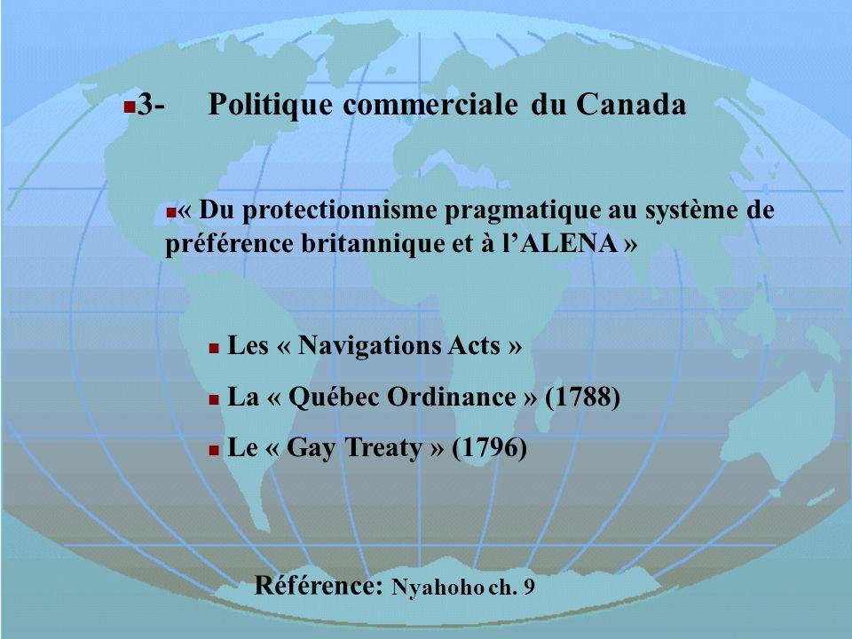3- Politique commerciale du Canada