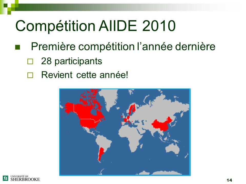 Compétition AIIDE 2010 Première compétition l'année dernière