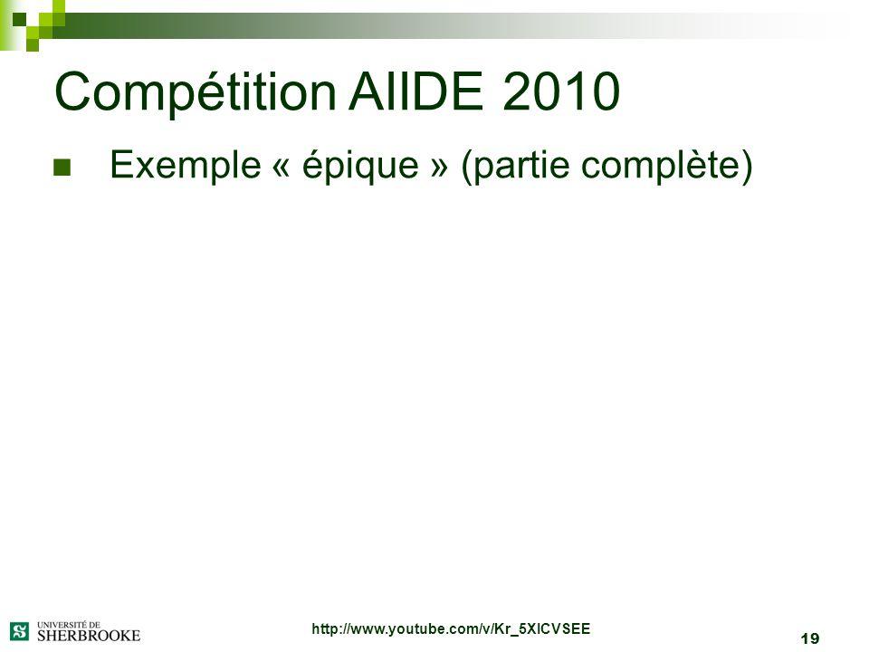 Compétition AIIDE 2010 Exemple « épique » (partie complète)