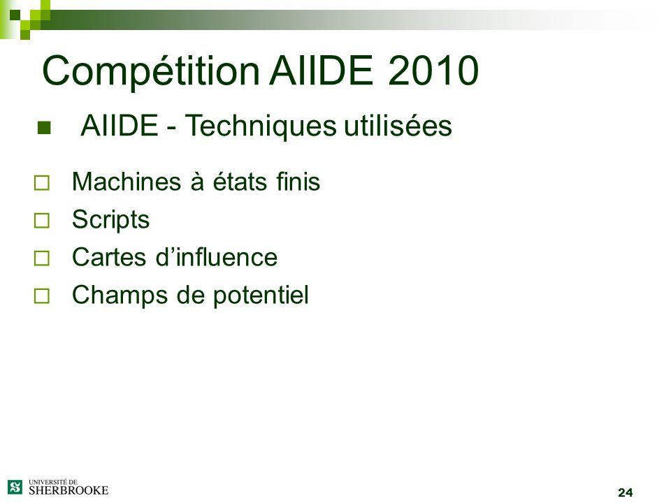 Compétition AIIDE 2010 AIIDE - Techniques utilisées