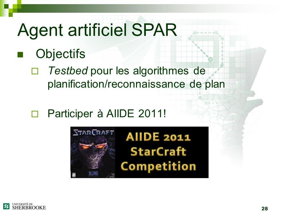 Agent artificiel SPAR Objectifs