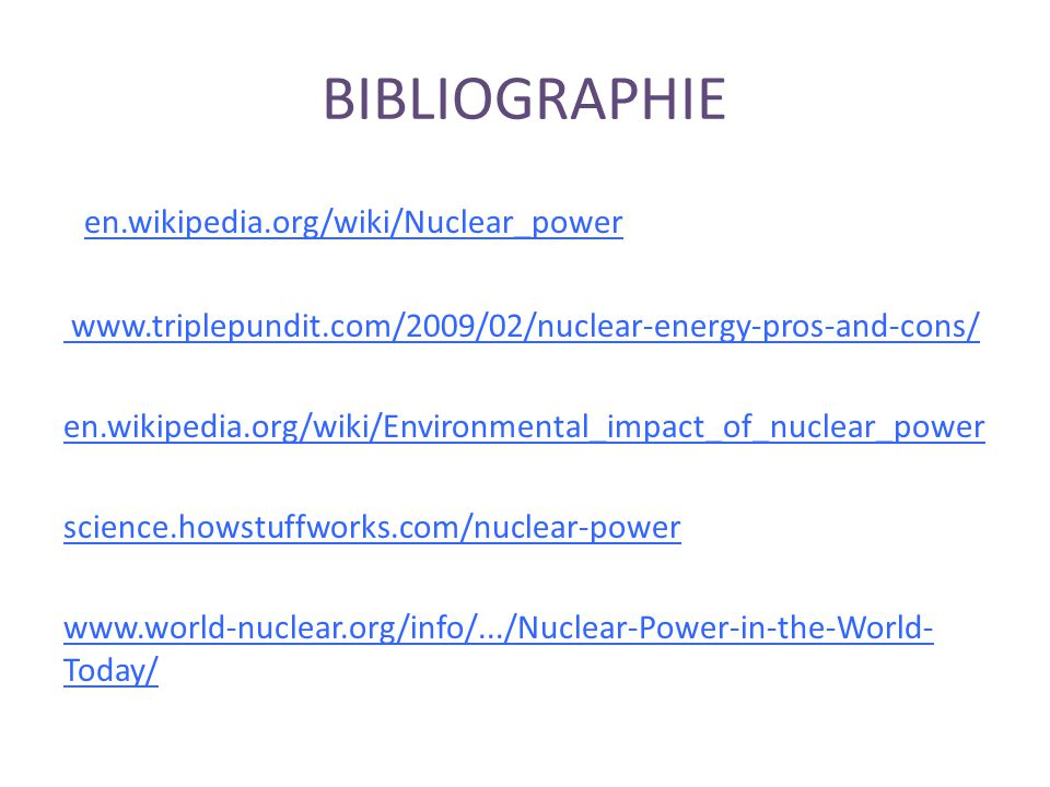 BIBLIOGRAPHIE en.wikipedia.org/wiki/Nuclear_power‎