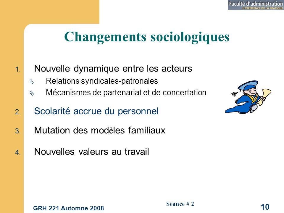 Changements sociologiques