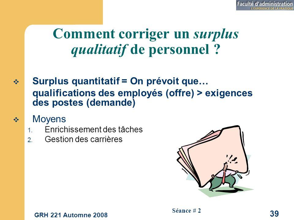 Comment corriger un surplus qualitatif de personnel