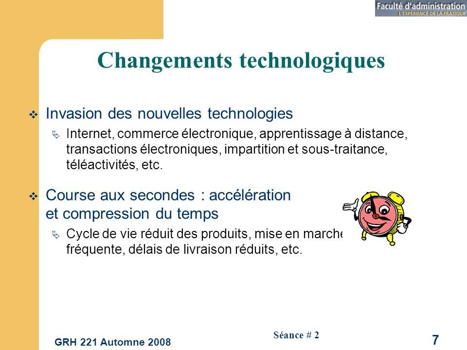 Changements technologiques