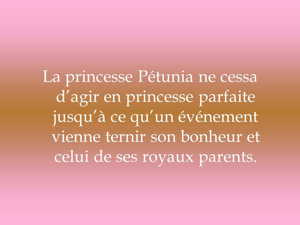 La princesse Pétunia ne cessa d'agir en princesse parfaite jusqu'à ce qu'un événement vienne ternir son bonheur et celui de ses royaux parents.