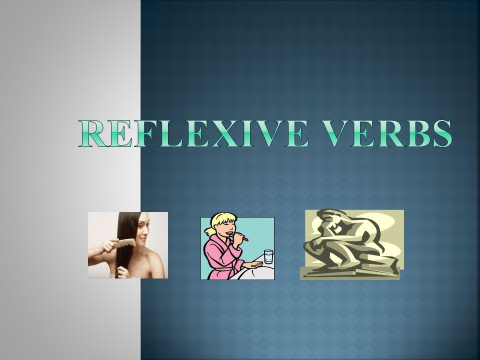 Reflexive Verbs Slides 22 - 34