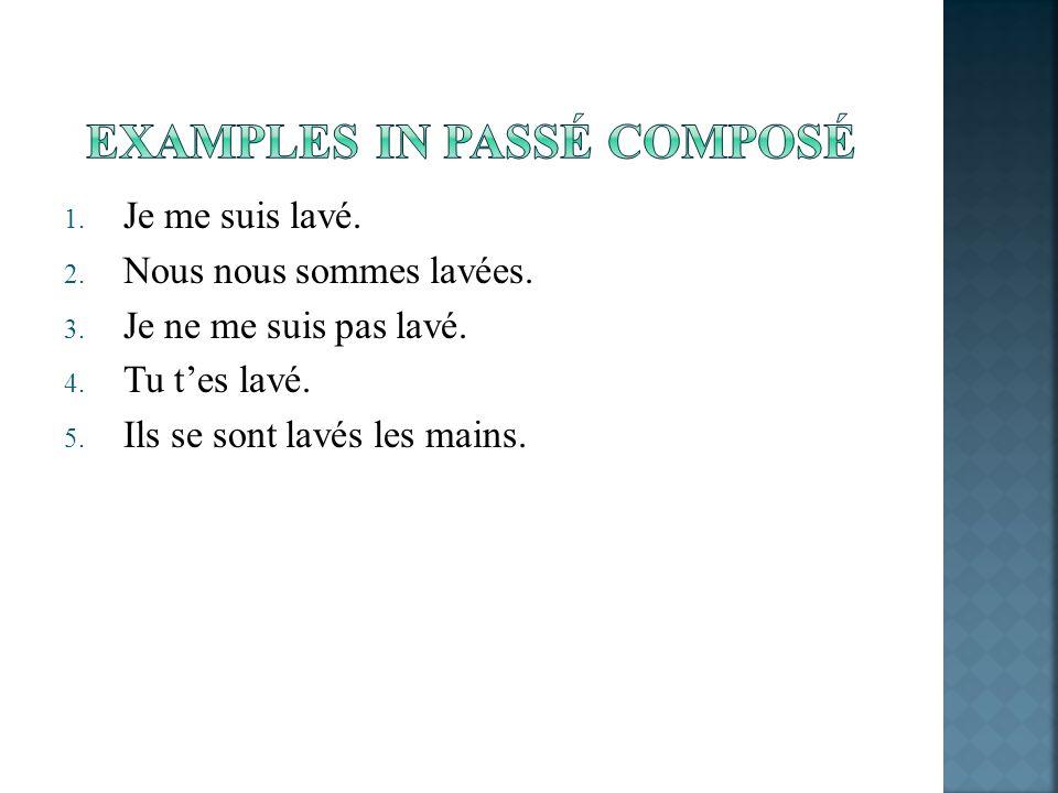 EXAMPLES IN PASSÉ COMPOSÉ